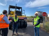 El alcalde, José Miguel Luengo visita las obras de reparación de cinco caminos rurales
