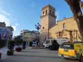Una brigada de mantenimiento del Ministerio de Fomento realiza trabajos de desinfección en las zonas más sensibles del casco urbano, El Paretón y Lébor