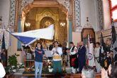 Los festeros de Moros y Cristianos de Archena volvieron a solicitarle la bandera a la Patrona la Virgen de la Salud, en el acto de la 'Arrancá'