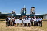 AFADE Alcantarilla y Caritas Castrenses, reciben las veinte mil sonrisas que desde la Base Aérea de Alcantarilla les llega de la última Carrera Popular
