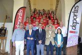 Recepción oficial a los deportistas que representarán a la Universidad de Murcia en la Universiada y los campeonatos de Europa de este verano