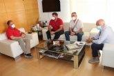 El alcalde recibe a los Comités de Renfe-Adif en Murcia y apoya sus reivindicaciones para que no se cierre la línea Murcia-Lorca-Águilas