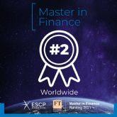 El Máster en Finanzas de ESCP Business School se posiciona en el segundo lugar a nivel mundial en el ranking del Financial Times