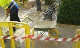 Servicios inicia un importante trabajo de reparaciones y reformas en San José Obrero y las fuentes públicas