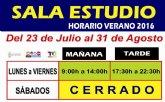 """La Sala de Estudio del Centro Sociocultural """"La C�rcel"""" tiene nuevo horario de verano del 23 de julio al 31 de agosto"""