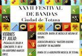 El XXVII Festival de Bandas Ciudad de Totana se celebra esta noche recuperando una actividad que no se celebraba desde el año 2011