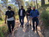 La Comunidad acondiciona el sendero del Collado de la Madera, en la Sierra de Ricote, para facilitar su uso en actividades de naturaleza