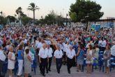 Lo Pagán acoge la multitudinaria misa en honor al Cristo del Mar Menor