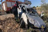 Accidente de tráfico con un joven herido en la carretera de Canteras a La Azohía