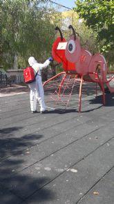 Aguas de Cieza intensifica la desinfección en guarderías, colegios y parques infantiles