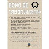 Los bonos de transporte universitario para el curso 20-21 ya se pueden adquirir al precio de 85 euros para 20 viajes