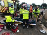 Protección Civil de San Javier atiende a 13 heridos en un accidente de tráfico ocurrido a primera hora de la mañana entre Pozo Aledo y El Mirador