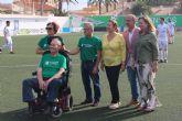 El club Atlético Pinatarense celebra un partido solidario a beneficio de la Asociación ELA Región de Murcia