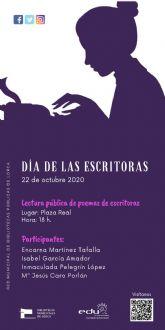 El Ayuntamiento de Lorca conmemora la V edición del Día de la Escritoras con la lectura de versos de cuatro poetisas lorquinas