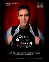 Diego Jiménez protagoniza el espectáculo ¿QUIÉN QUIERE JU(Z)GAR CONMIGO? el sábado 24 de octubre en el Teatro Villa de Molina