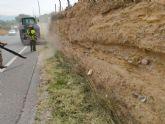 Fomento acondiciona los márgenes del tramo de la N-344 de competencia municipal que une Murcia con Las Torres de Cotillas