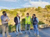 Finalizada la obra de paso de agua de la carretera de Pliego a Casas Nuevas