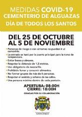 Protocolo de medidas COVID-19 en el cementerio municipal para el Día de Todos los Santos