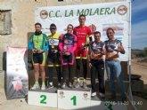 Juan Daniel Costa del C.C. Santa Eulalia y Julio Bermejo de la Peña las Nueve suben al podium 1º por equipos en VII bike orientación Yechar