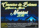 El Ayuntamiento de Alhama de Murcia y la Concejal�a de Cultura y Patrimonio convocan el Concurso de Belenes de Navidad 2016