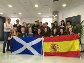 El Alcalde recibió a un grupo de estudiantes escoceses de intercambio en San Javier