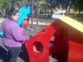 Desarrollan un ambicioso plan de choque de limpieza de cunetas en caminos rurales y arreglo de las áreas de juegos infantiles en parques y jardines