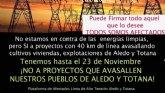Lanzan una campaña de recogida de firmas en 'change.org' para 'evitar el desastre a los pueblos de Aledo y Totana de la Línea de Alta Tensión'