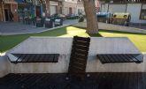 Los vándalos se vuelven a cebar con el mobiliario público en Las Torres de Cotillas