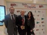 La Concejalía de Deportes felicita al totanero Pablo Costa por el premio recibido en la Gala del Deporte de la Región de Murcia