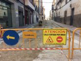 Las obras de saneamiento y pavimentación de la calle Cánovas del Castillo finalizarán a mediados de enero