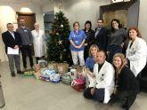 El Hospital de Molina entrega 150 kgs. de comida a Cáritas