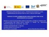 Nicia el Programa de Empleo Público Local con la contratación de dos desempleados del municipio para realizar trabajos administrativos