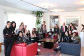 El consejero de Hacienda recibe a los alumnos del CES Vega Media de Alguazas