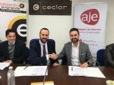 Los Jóvenes Empresarios del Guadalentín y AJE Región de Murcia firman un Convenio de Colaboración
