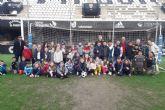 Alumnos del colegio Virgen de la Candelaria de Caravaca visitan el Estadio Municipal Cartagonova