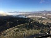 Movilizados efectivos del Plan Infomur para apagar un incendio forestal declarado en la Sierra de Carrascoy