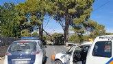 Cortada la carretera de la Santa a la altura de La Venta los Pinos por la caída de ramas de un árbol