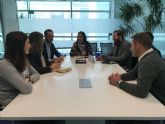 El Alcalde de Torre-Pacheco y la concejala de Juventud y Empleo mantienen una reunión de trabajo con el presidente de AJE Región de Murcia y miembros de la Asociación