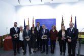 Diego Conesa distingue con las Medallas al Mérito de la Protección Civil a los coordinadores de las unidades de Los Alcázares, Mazarrón, San Javier y San Pedro
