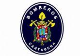 Bomberos de Cartagena colaboran en la extinción de un incendio en La Unión que se salda con una víctima mortal