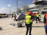 Protección Civil Torre Pacheco interviene en el simulacro de accidente en el aeropuerto de Corvera