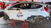 Juan Carlos Quintana y Yeray Mujica preparan el nacional de tierra con el Ford Fiesta R 5