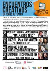 La Concejalía de Cultura de Molina de Segura retoma el programa Encuentros Creativos en torno al Teatro en los meses de febrero y marzo