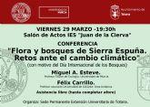 La sede permanente de la UMU organiza la conferencia 'Flora y bosques de Sierra Espuña. Retos ante el cambio climático' '