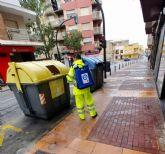 El Ayuntamiento intensifica el dispositivo especial de limpieza y desinfección para frenar la propagación del coronavirus