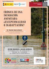 La UMU y El Corte Inglés te invitan a reflexionar sobre las últimas inundaciones de la región