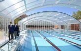 Concluye la instalación de la nueva cubierta de la piscina de Espinardo