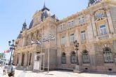 El Ayuntamiento luce los colores del Fútbol Club Cartagena con motivo del playoff de ascenso a Segunda División