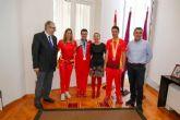 Los medallistas paralímpicos Juan Carlos Mellado y José Carlos Moreno, recibidos como campeones
