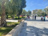 El jardín de la Redonda abre a escondidas por ser un proyecto del PP y a falta de la reforestación prevista